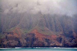 Napali coast from the ship