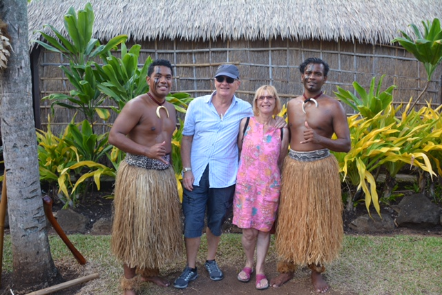 With some Polynesians.